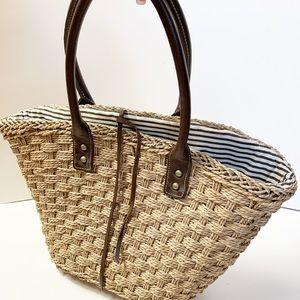J. Crew straw beach bag